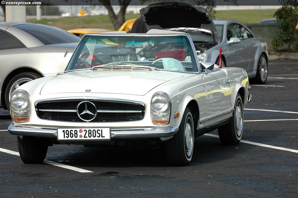 Mercedes benz sl 280 technical details history photos on for Mercedes benz history name
