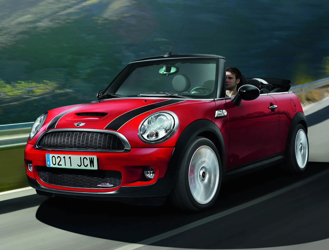 mini cabrio john cooper works technical details history. Black Bedroom Furniture Sets. Home Design Ideas