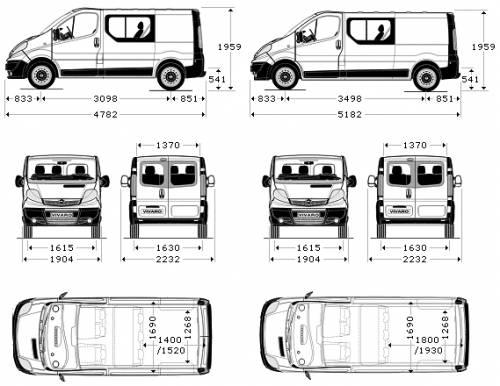 vivaro vauxhall opel cab double camper blueprints trapper floor plan conversion vw trafic ausbau wohnmobil umbau vans meccaniche tappezzeria carrozzeria