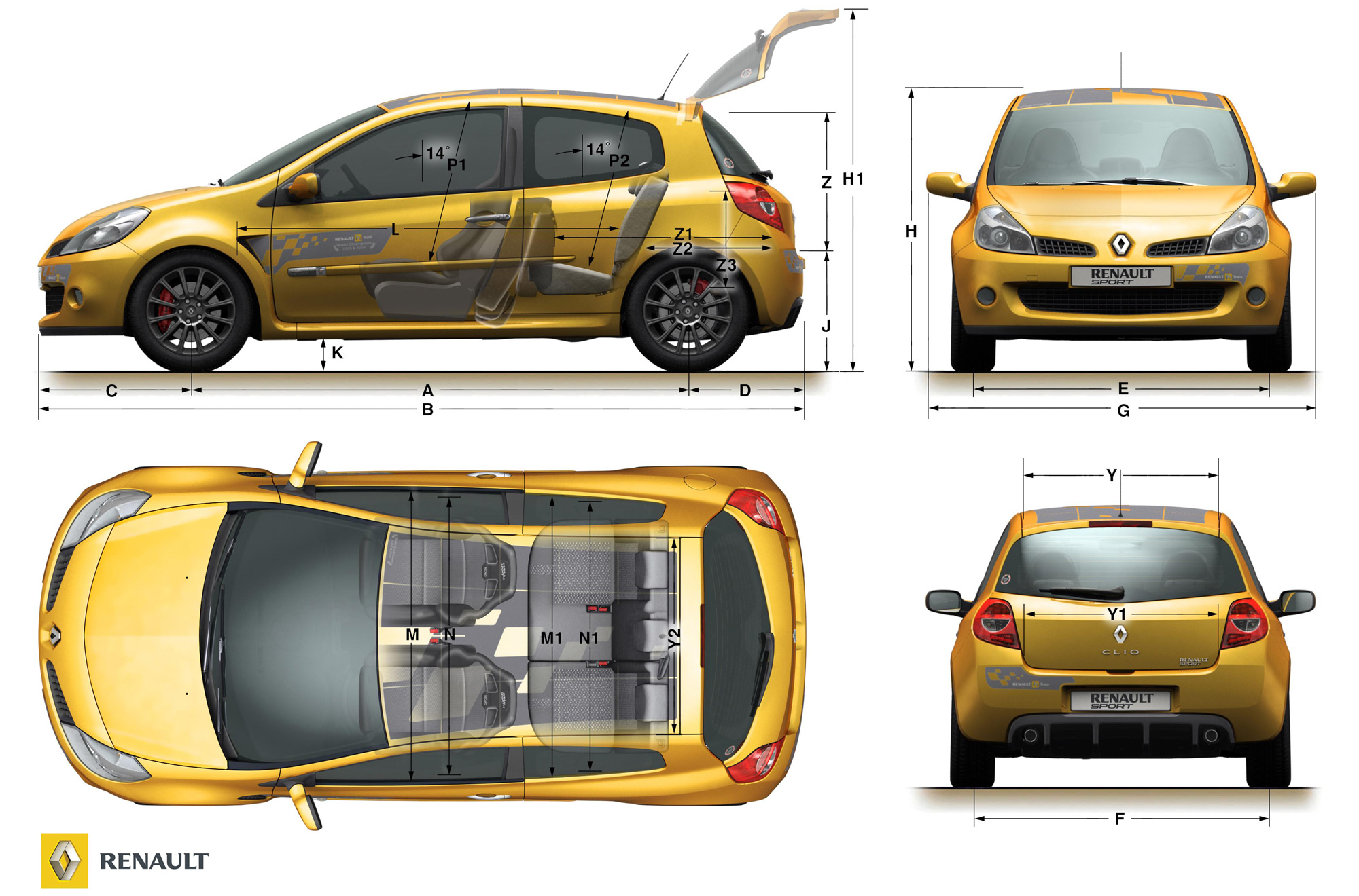 Renault Clio Renault Sport F1 R27 Technical Details