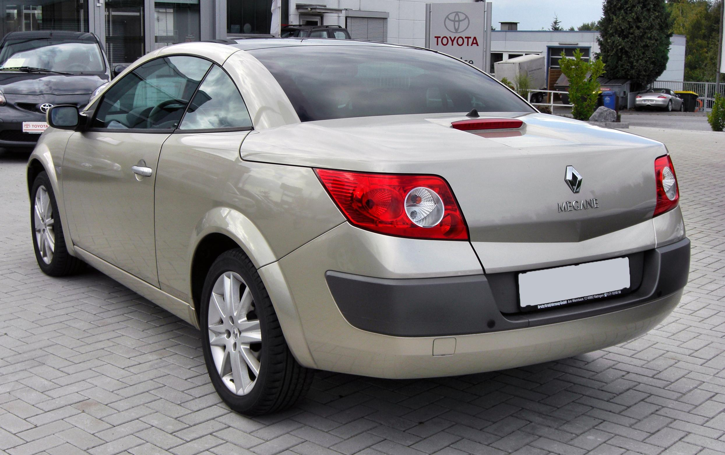 renault megane cc technical details history photos on better parts ltd. Black Bedroom Furniture Sets. Home Design Ideas